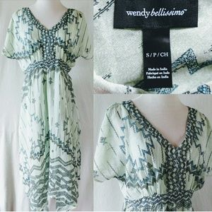 Wendy Bellissimo Dresses & Skirts - Wendy Bellissimo Maternity Mint Aztec Dress. Small