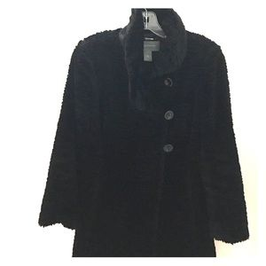 Black chenille coat