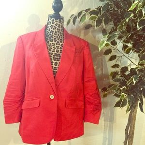The Limited Jackets & Blazers - 🌷SALE🌷 The Limited Coral Colored 1 Button Blazer