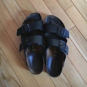 Birkenstock Shoes - Black leather Birkenstocks