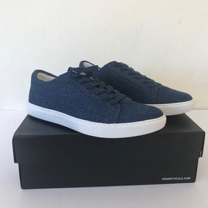 Kenneth Cole KAM Blue Denim Sneakers Size 8.5
