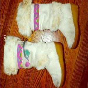 Tecnica Shoes - Vintage Tecnica Skandia Cream Goat Fur Boots