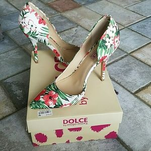 Mojo Moxy Shoes - Floral heel by dolce
