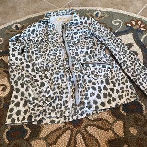 Velvet Jackets & Blazers - Velvet by Graham & Spencer Leopard Utility Jacket