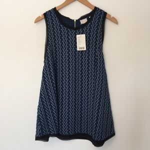 Anthropologie Tops - Anthropologie | Blue Motif Smocked Swing Tank