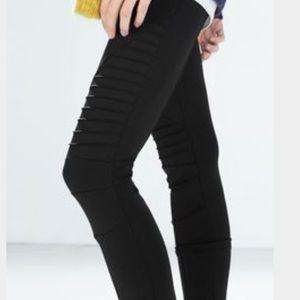 Zara Woman Moto Leggings Size Small