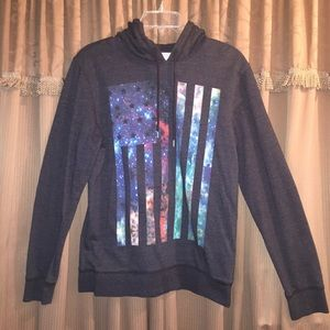 On The Byas Other - On The Byas Galaxy Flag Hooded Sweater M