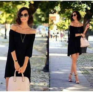 Zara Dresses & Skirts - ZARA Velvet Bardot Dress
