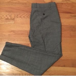 J.Crew grey flannel ankle length skinny pant