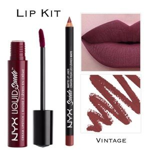 NYX Other - Matte Lip Kit - Plum w/Mauve Undertone