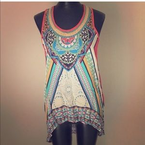 Flying Tomato Tops - Flying Tomatos trendy top like new tribal red blue