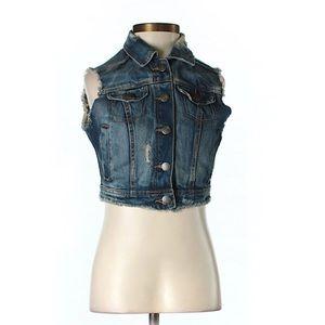 Zara Jackets & Blazers - Trafaluc by Zara Distressed Denim Vest XS