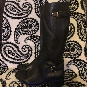 Leather Knee-high Boots Size 10M