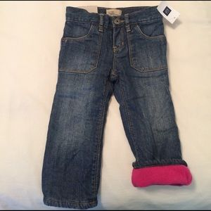 Baby Gap Other - NWT! Baby Gap girls fleece lined jeans. 18-24m