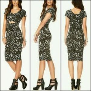 Forever 21 Dresses & Skirts - NWT Bodycon Cutout Midi Dress