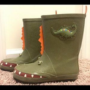 Kidorable Other - Kidorable Dinosaur Rain Boots Sz 11.5