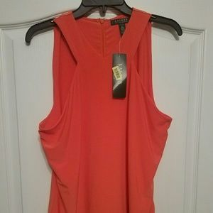 Sleeveless Tangerine Blouse