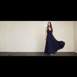Reformation Dresses & Skirts - Reformation Arabella Dress Navy nwt