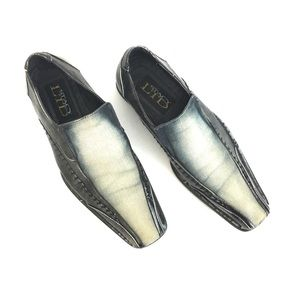 Stacy Adams Other - Stacy Adams distressed denim western loafers