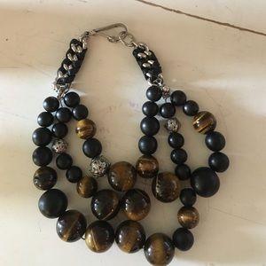 henri bendel Jewelry - 3 strand safari look necklace! Henri Bendel