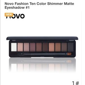 Other - Novo Fashion Ten Color Shimmer Matte Eyeshadow