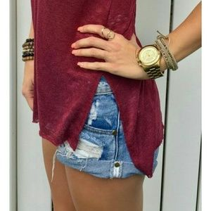 American Eagle Outfitters Pants - 🔴Get the Look🔴Boyfriend 77 Distress Jean Shorts