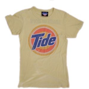 Junk Food Clothing Tops - Junk Food Tee Tide Pale Yellow Top Size XL