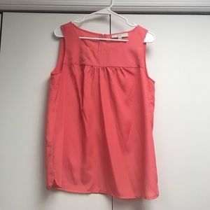 Loft Sleeveless Peach Blouse