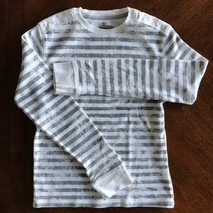 Epic Threads Other - Boys grey and white striped long sleeve t-shirt