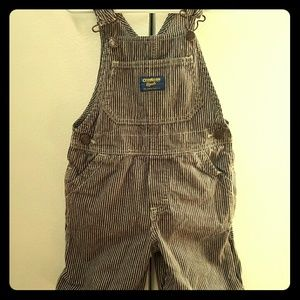 Osh Kosh Other - Pinstripe toddler shortie overalls 3t