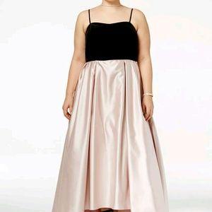 Betsy & Adam Dresses & Skirts - Betsy & Adam Velvet High Low Strapless gown