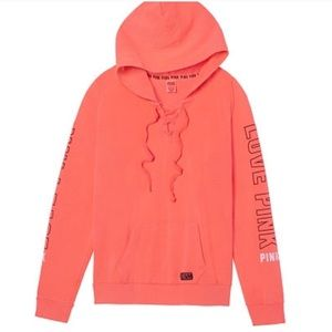 Victoria's Secret PINK Lace Up Perfect Pullover