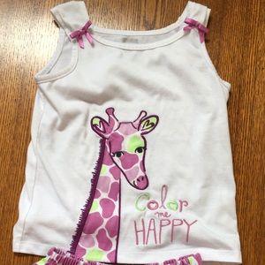 Gymboree Other - Giraffe pajamas set