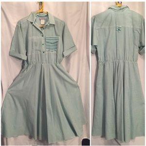 Vintage 80s full skirt dress 10 M