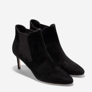 Cole Haan Shoes - Cole Haan Black Suede Ankle Booties