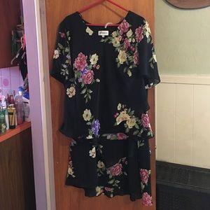 Studio  Dresses & Skirts - Studio 1 black floral print 2 pc dress sz 24W