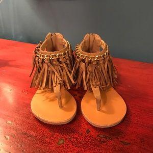 Kensie Girl Other - NEW! Girls fringe brown sandals