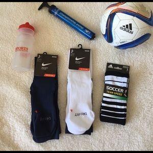 Nike Other - Nike Adidas Sports Socks Size Large Men