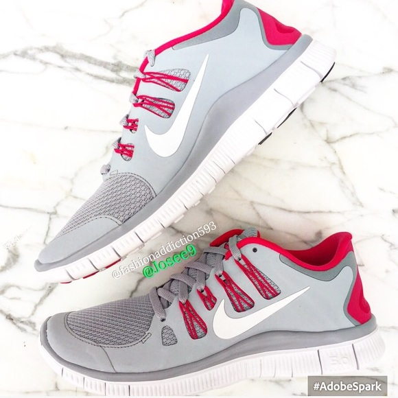 new product 9038a 7e0fe Skor White Grey Sneakers Womens 50 Gratis Nike Red Pink Poshmark q1w7dPxI
