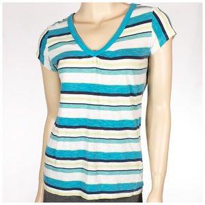 SO Tops - 🇺🇸4 FOR $13 MEGA SALE❤️ Teal Striped V Neck Tee