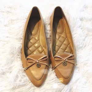 Michael Kors Nude Bow Loafer Flats