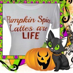Iconic Legend Tops - 🍂☕️BNWT Pumpkin Spice Latte Tee☕️🍂