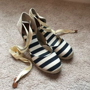 Sonoma Shoes - Sonoma Tie Wedge Espadrilles