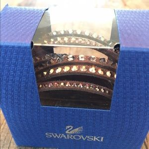 Swarovski Jewelry - Swarovski Deluxe Slake Bracelet Choc NIB