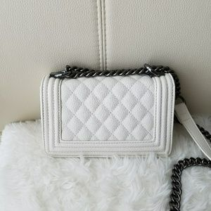Forever 21 White Quilted Crossbody Bag
