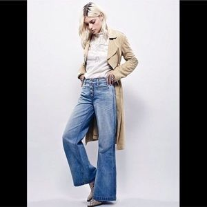 Free People Denim - FREE PEOPLE wide leg extreme flare jeans