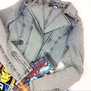 Divided Jackets & Blazers - Denim Motorcycle Jacket
