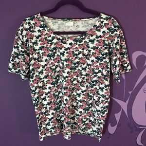 anchor blue Tops - Anchor Blue Womens juniors floral top size s