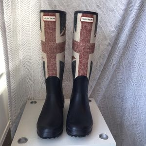 Hunter Boots Shoes - LIMITED EDITION - Union Jack Hunter Boots