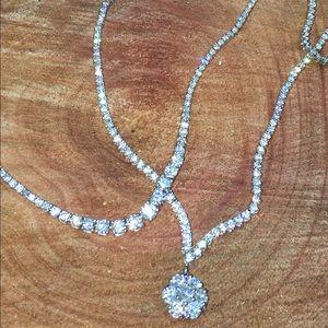 Jewelry - Diamond tennis necklace